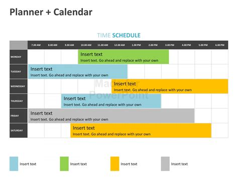 power point calendar template planner calendar editable powerpoint template