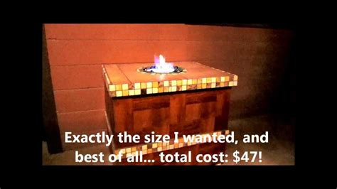 ethanol pit table home built ethanol pit table