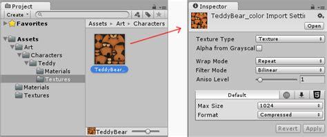 Sleting Import 임포트 설정 import settings unity manual