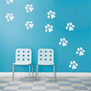 paw print wall decals home pet dog prints stickers cute animal design sticker