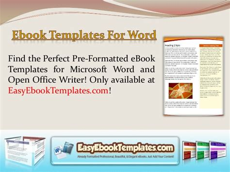 Ebook Templates For Word Ebook Template Word