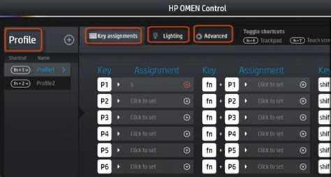 hp omen keyboard lights hp notebook pcs using the hp omen control software to