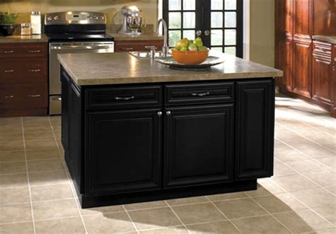 Black Kitchen Island Islands Kabco Kitchens