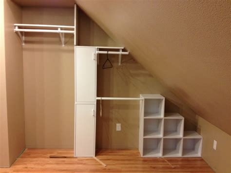 Small Attic Closet Ideas by Best 25 Attic Closet Ideas On Slanted Ceiling Closet Attic Bedroom Storage And