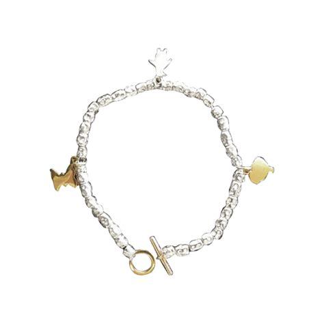 bracciale pomellato dodo bracciale pomellato dodo argentato argento ref a44737