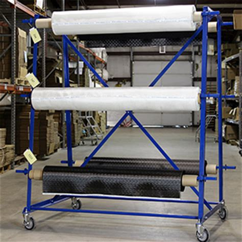 Fabric Rack by Six Roll Fabric Rack In Stock Fibre Glast