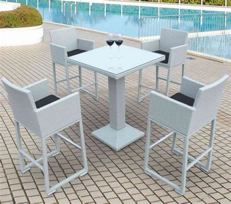 Outdoor Patio Table And Chairs Furniture Counter Height Outdoor Dining Sets Polywood Captain Hi Top Table Bar Height Patio