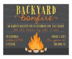 backyard bonfire party invitations by invitation