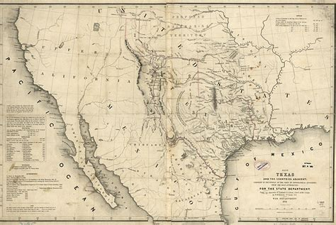 1800 texas map maps of 19th century america