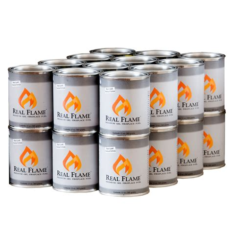 Fireplace Gel Fuel Cans by Real Gel Fuel 24 Pack
