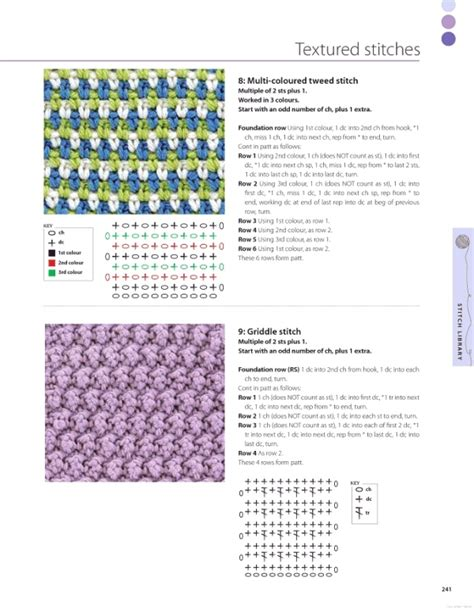 knitting terms uk multi colored tweed stitch from the knitting and crochet