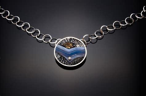 carved blue agate chevron creek reflections jewelrycreek