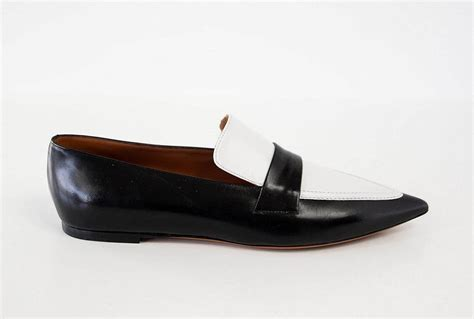 white flat pointed shoes shoe sleek black and white flat pointed toe 39 9