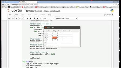 qtableview tutorial pyqt4 python gui 5 tables on guis youtube