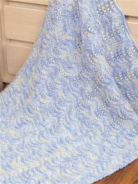 easy knitted baby afghan patterns easy shells baby blanket
