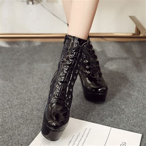 high heel ankle boots cheap cheap winter fashion toe lace up platform stiletto
