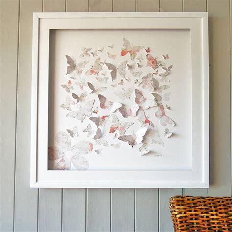 in framed artwork framed 3d vintage butterfly artwork by maison