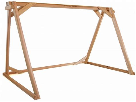 wooden frame swing diy a frame swings plans free