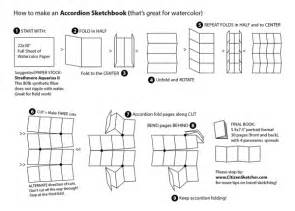 How To Fold A3 Paper Into A Booklet - make you own accordion fold travel journals for watercolor