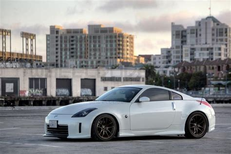 blue nissan 350z with black rims white 350z with black rims 350 z black