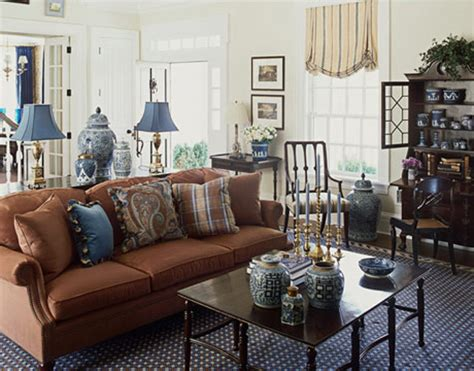brown lounge living room decorating ideas pictures brown and blue