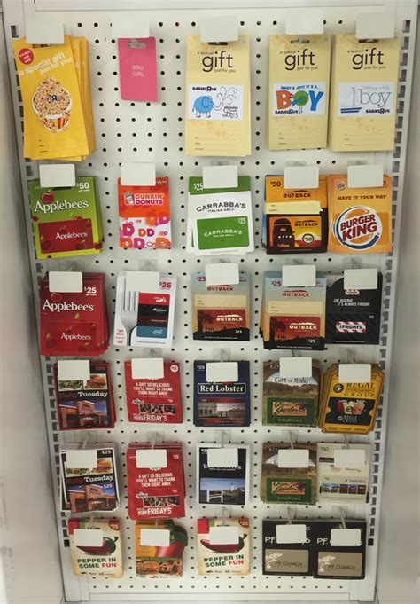 Chic Fil A Gift Cards - babies r us gift card rack 2