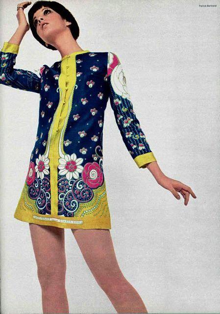 Deashyta Flowery Turtle Neck Mini Dress groovy swinging 1960s dresses