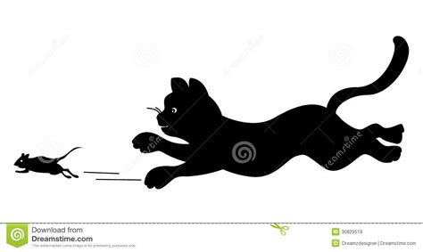cat chases chasing cat clip clipart panda free clipart images