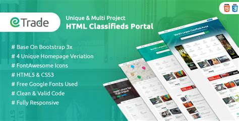 classified ads html template trade modern classified ads html template by themeregion
