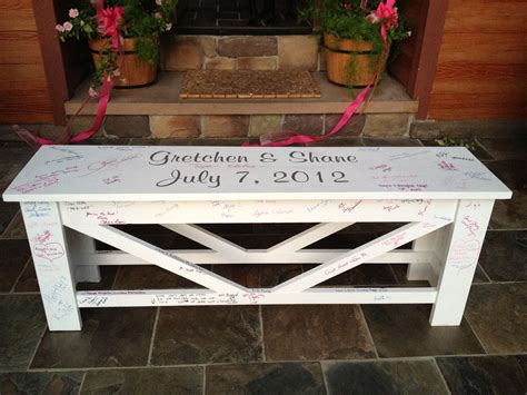 wedding bench gast girls get crafty guest book bench