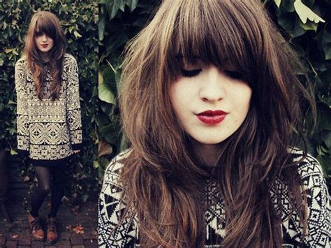 hairstyles for overgrown bangs i need this hair cut fringe bangs beauty pinterest