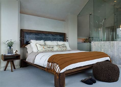 Rustic Bed Platform And Detached Headboard Decoist