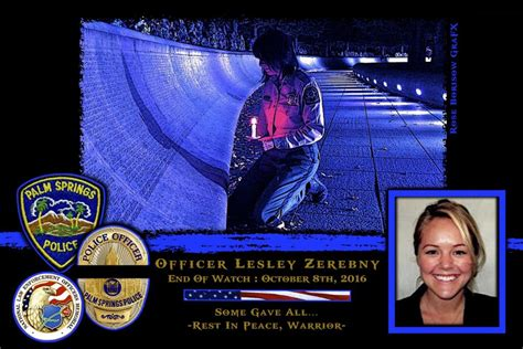 Officer In California by In Memoriam Officer Lesley Zerebny And Officer Jose