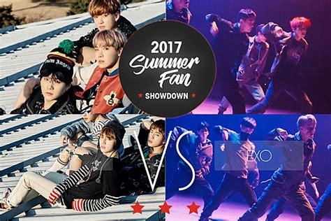 Exo Vs Bts 2017 | bts vs exo 2017 summer fan showdown round 2