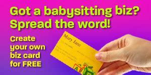 8 Great Babysitting Tips by Templates For Babysitting Flyers Babysitting Advice