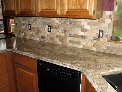 stunning granite countertop with tile backsplash including countertops ideas thenhhouse com