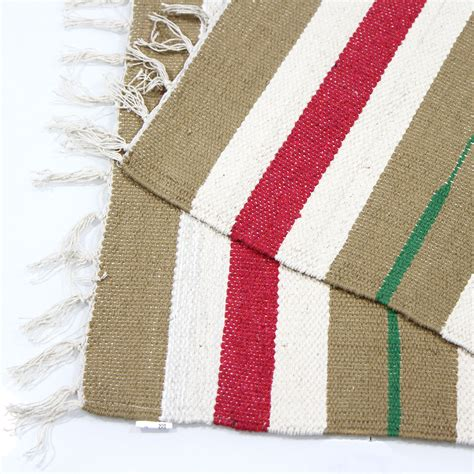 100 cotton rugs colourful 100 cotton striped flat woven rug 55x85cm