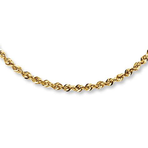 rope for jewelry rope necklace 14k yellow gold 24 quot length