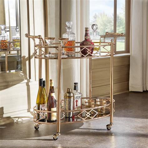 homesullivan ariella rose gold bar cart gd bk