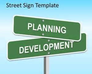 free street sign powerpoint template is an original