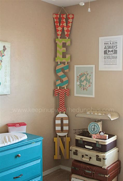 hanging vertical kid s name in the corner just decorate
