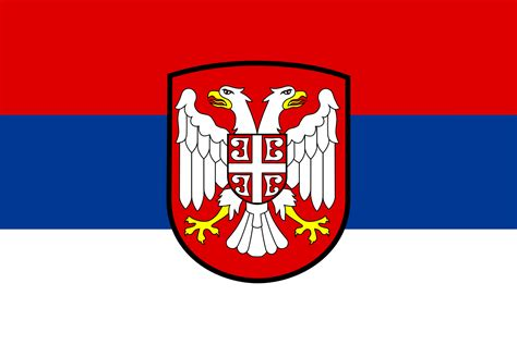 file flag of serbia 1941 1944 svg wikimedia commons