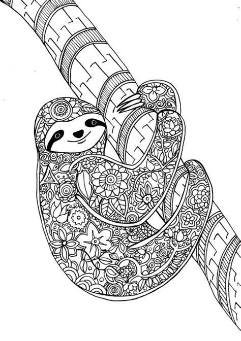 1 sloth coloring book best sloth coloring book for adults animals coloring book about sloths volume 1 books flower sloth a page from my new therapy coloring book