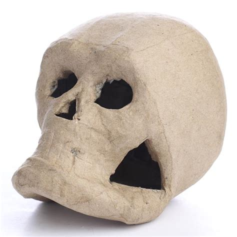How To Make Paper Mache Skull - paper mache skull paper mache basic craft supplies
