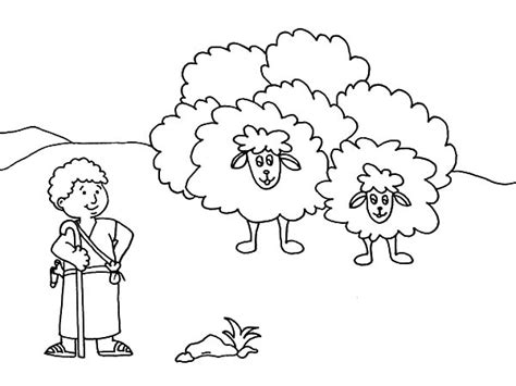 coloring page david the shepherd boy david and sheep page coloring pages