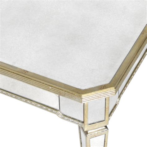 venetian antiqued mirror coffee table by out there