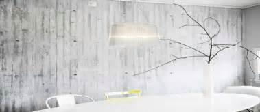 Nice Salle De Bain Bleu Et Jaune #7: Papier-peint-effet-beton-dans-salle-a-manger5.jpg