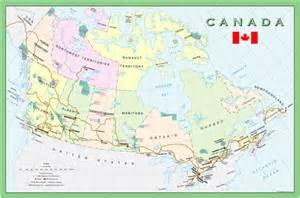 tourist map of canada canada