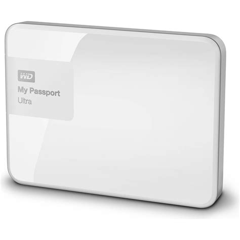 Wd My Passport Ultra 1tb New Design White wd 1tb my passport ultra usb 3 0 secure wdbgpu0010bwt nesn b h