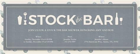 stock the bar invitation templates free bridal shower invitations evite